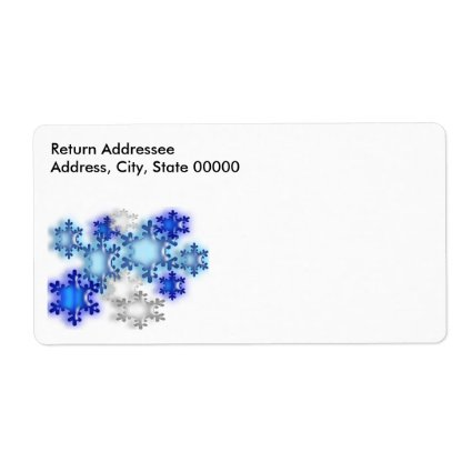 Label - Shipping - Snowflakes