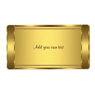 Label Sticker Gold Large Shipping Label