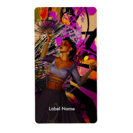 Label Stickers Fantasy Dancer