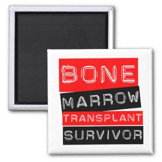 Label Style - Bone Marrow Transplant Survivor 2 Inch Square Magnet