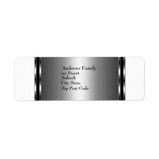 Label White & Silver Simple