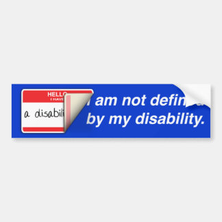 Labeled Disabled Bumper Sticker
