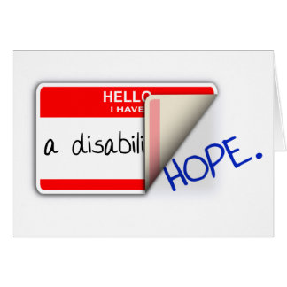 Labeled Disabled Card