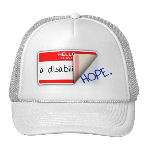 Labeled Disabled Hat