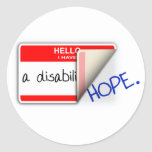 Labeled Disabled Sticker