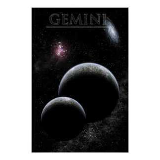 Labeled Gemini framed print