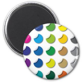 Labels 2 Inch Round Magnet
