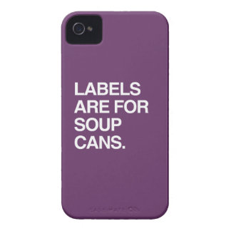 LABELS ARE FOR SOUP CANS iPhone 4 COVERS