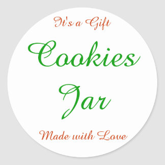 """Labels """"Cookies red and green Gravel bank"""" Classic Round Sticker"""