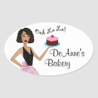 Labels for Baked Sweets Oval Stickers