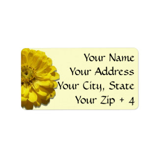 Labels/Gift Tags - Yellow Zinnia
