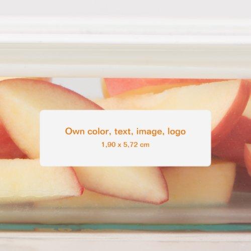 Labels Rectangle Medium uni White _ own Color