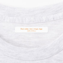 Labels Rectangle uni White - own Color