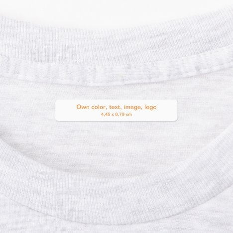 Labels Rectangle uni White - own Color