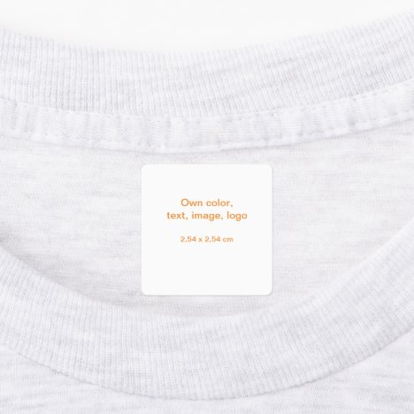 Labels Square uni White - own Color