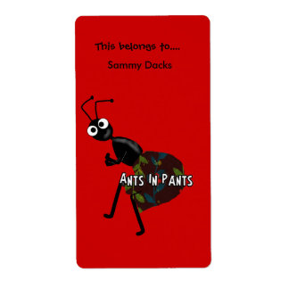 Labels Stickers Bookplate Ants In Pants Custom Shipping Label