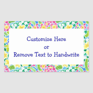 Labels to Customize, Pretty Primroses Pattern Rectangle Stickers