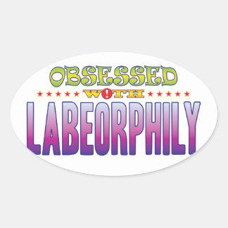 Labeorphily 2 obsesionado pegatina ovalada