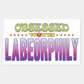 Labeorphily 2 obsesionado pegatina rectangular