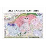 Laberinto '10 de los juegos principales ultra tarjetas postales