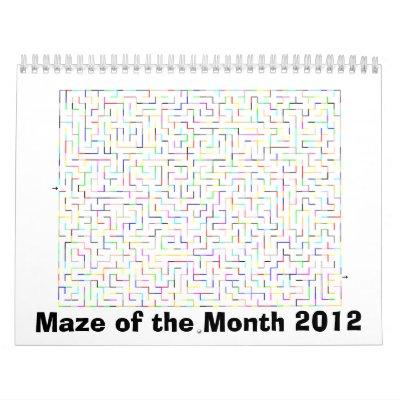 Laberinto 2012 del calendario del mes