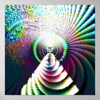 Laberinto 5a del fractal póster