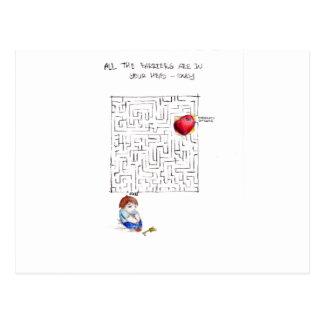 Laberinto a mi corazón tarjeta postal