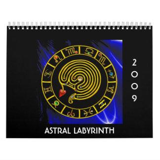 LABERINTO ASTRAL 2009, calendario