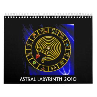 LABERINTO ASTRAL 2010, calendario