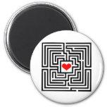 Laberinto - corazón imán