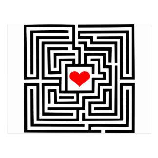 Laberinto - corazón postal