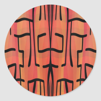Laberinto de la puesta del sol - extracto pegatina redonda