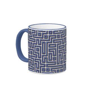 Laberinto de los azules claros taza de dos colores