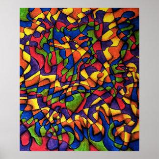 Laberinto del arco iris póster