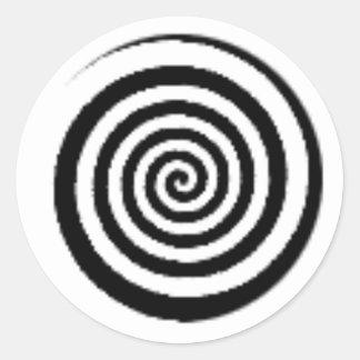 laberinto del círculo pegatina redonda