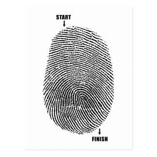 Laberinto del dedo tarjetas postales