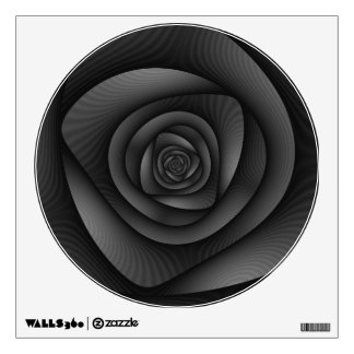 Laberinto del espiral   de la etiqueta de la pared vinilo adhesivo
