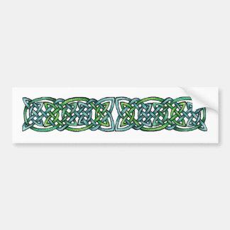 Laberinto esmeralda etiqueta de parachoque