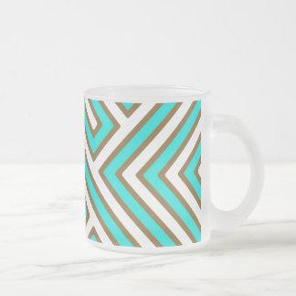 Laberinto geométrico texturizado tazas de café