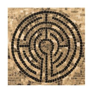"Laberinto V 12"""" arte de madera de la pared X12 Cuadros De Madera"