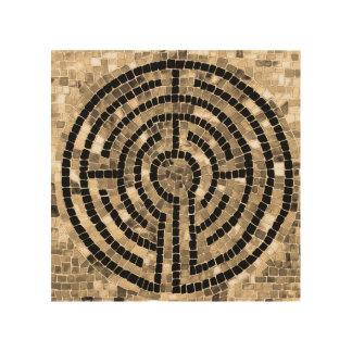 """Laberinto V 8"""" x 8"""" arte de madera de la pared Impresiones En Madera"""