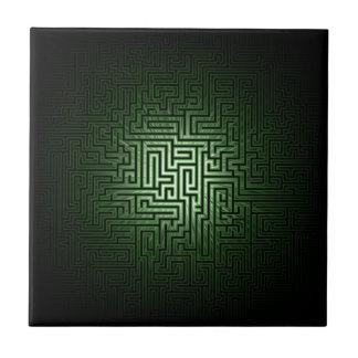 Laberinto verde azulejo cuadrado pequeño