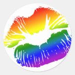Labios 1 del arco iris etiqueta