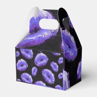 Labios abstractos púrpuras caja para regalo de boda