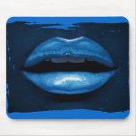 Labios azules alfombrillas de raton
