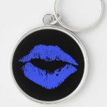 Labios azules llaveros personalizados