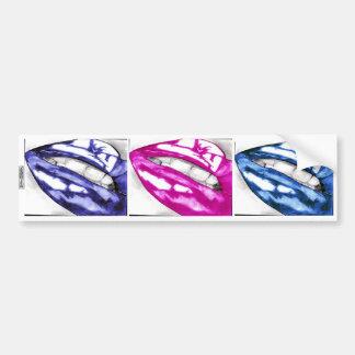 Labios calientes - la pegatina para el parachoques pegatina para auto