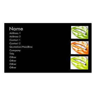 Labios calientes - tarjetas de visita de la fruta