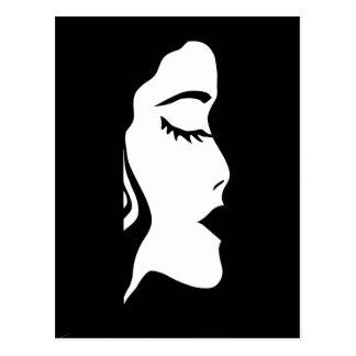 labios, cara, pelo, hembra, chica, ella postales