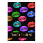 Labios coloridos intrépidos del lápiz labial de invitación 12,7 x 17,8 cm
